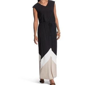 Chico's color block maxi dress size 3 / XL, 16, 18